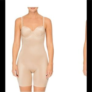 Spanx Suit Your Fancy cupped mid thigh shaper sz L